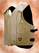 "Ride-Right ""Flex Thin"" Colored Leather Protective Vest"