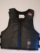 Ride-Right Saddle Bronc Protective Vest - Black Leather